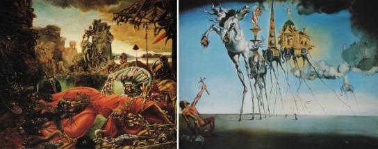 La tentation de Saint Antoine vue par Max Ernst & Salvador Dali © DR