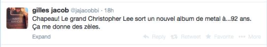 Tweet de Gilles Jacob