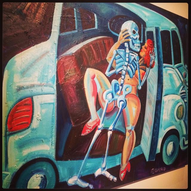 Back Seat Dodge: homage to Kienholz de Frank Romero_1991 © DR/Musée d'Aquitaine — FredMJG/Instagram