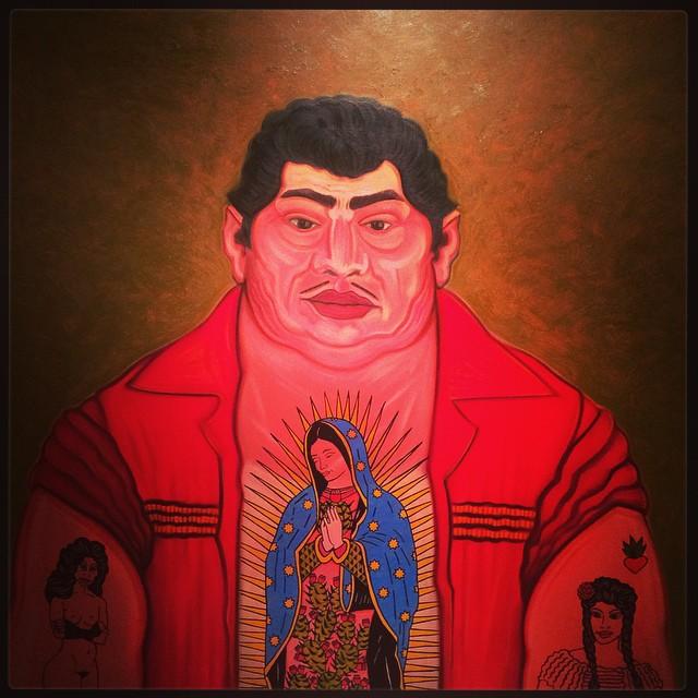 Hombre que le Gustan las Mujeres de César Martinez_2000. Huile sur toile © DR/Musée d'Aquitaine — FredMJG/Instagram