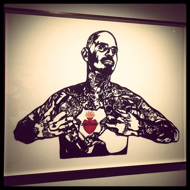 Sacred heart de Sonia Romero_2013. Sérigraphie et papier découpé © DR/Musée d'Aquitaine — FredMJG/Instagram