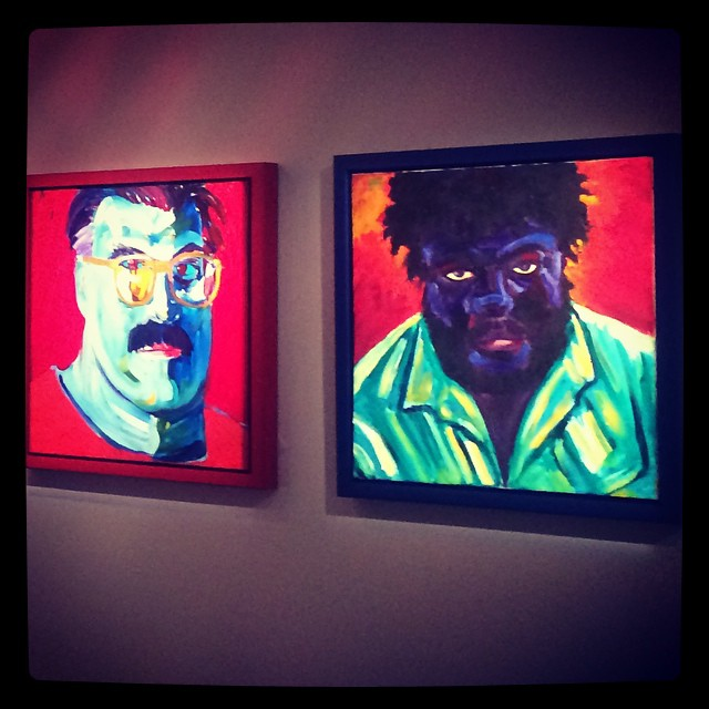 The new mix. Portraits de Michael Flechtner & Willie Middlebrook de Margaret Garcia_2001. Huiles sur bois © DR/Musée d'Aquitaine — FredMJG/Instagram