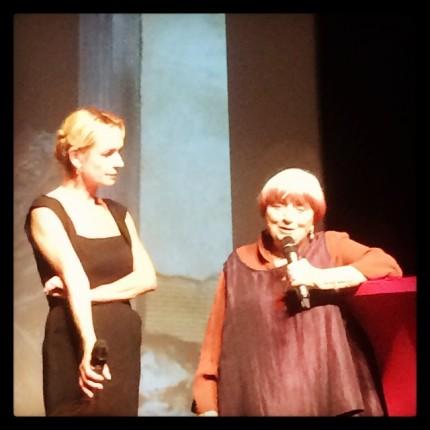 Réunion. Sandrine Bonnaire et Agnès Varda se souviennent de Sans toit, ni loi_1985 ©FredMJG/Instagram