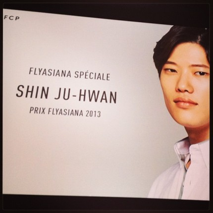 Shin Ju-hwan, lauréat du Prix FlyAsiana 2013 © FredMJG/Instagram