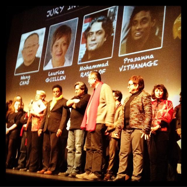 Le Jury International, Prasanna Vithanage, Mohammad Rasoulof, Wang Chao et Laurice Guillen © FredMJG/Instagram