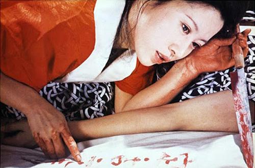 Junko Miyashita dans La véritable histoire d'Abe Sada de Noboru Tanaka © Nikkatsu