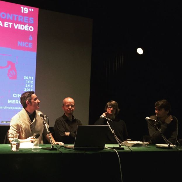 Le gang de Zoom Arrière [Vincent Jourdan, Vincent Roussel, Joaquim Lepastier & Edouard Sivière] avant l'ouverture de la Table ronde © FredMJG