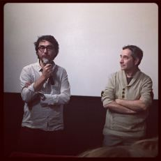 Ludovic Vieuille, réalisateur de Deux cancres & Vincent Jourdan lors du Q&A © FredMJG