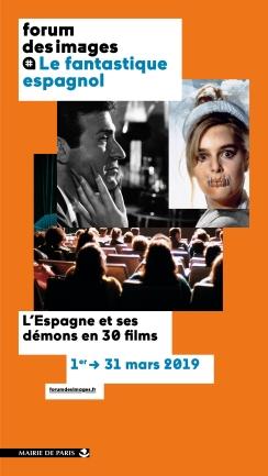 © FDI — Le fantastique espagnol / Design graphique : ABM Studio – Visuel : Dans les griffes du maniaque © Gaumont, Action mutante / Angoisse © Collection Christophel
